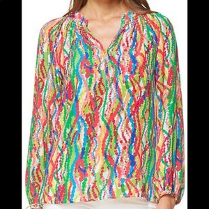 Lily Pulitzer Elsa top Dripping with jewels NWOT